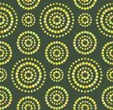Modèle sans couture de cercles de points sur le vert illustration de vecteur