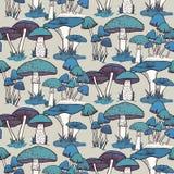 Modèle sans couture de champignons colorés Images libres de droits