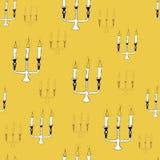 Modèle sans couture de chandelier Images stock