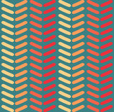 Modèle sans couture de chevron de vecteur Façonnez le modèle de zigzag dans de rétros couleurs, fond sans couture de vecteur Photographie stock