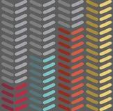 Modèle sans couture de chevron de vecteur Façonnez le modèle de zigzag dans de rétros couleurs, fond sans couture de vecteur Image libre de droits