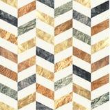 Modèle sans couture de Chevron fait de vieilles textures de papier affligées brunes, beiges, grises et bleues Fond tileable répét photo libre de droits