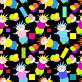 Modèle sans couture de clowns Images libres de droits