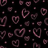 Modèle sans couture de coeur Photo libre de droits