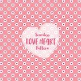 Modèle sans couture de coeur d'amour sur la couleur en pastel romantique Illustration de vecteur image stock