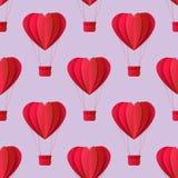 Modèle sans couture de coeur d'origami de valentines de vecteur Photo stock