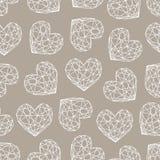 Modèle sans couture de coeur de diamant Photos libres de droits