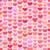 Modèle sans couture de coeur de Valentine de saint illustration libre de droits