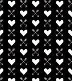 Modèle sans couture de coeur et de flèches 8bit Carte de voeux carte douce de valentine d'amour Ce garçon aime des sports et des  Photos libres de droits