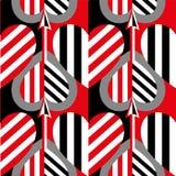 Modèle sans couture de coeur Idéal pour la carte de jour de Valentine s ou le papier d'emballage image stock