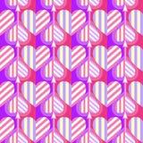 Modèle sans couture de coeur Idéal pour la carte de jour de Valentine s ou le papier d'emballage images libres de droits