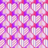 Modèle sans couture de coeur Idéal pour la carte de jour de Valentine s ou le papier d'emballage photographie stock libre de droits