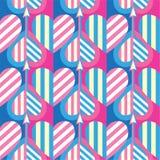Modèle sans couture de coeur Idéal pour la carte de jour de Valentine s ou le papier d'emballage images stock