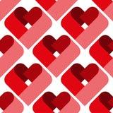 Modèle sans couture de coeur Idéal pour la carte de jour de Valentine s ou le papier d'emballage photo stock
