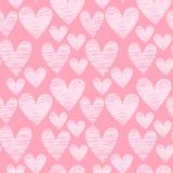 Modèle sans couture de coeur rose Photo libre de droits