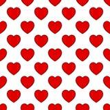 Modèle sans couture de coeur rouge simple Images stock