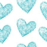 Modèle sans couture de coeurs bleus illustration libre de droits