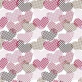 Modèle sans couture de coeurs de point de polka Image stock