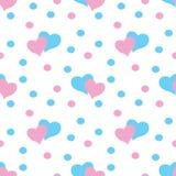 Modèle sans couture de coeurs de Valentine Photos stock