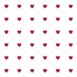 Modèle sans couture de coeurs sur le fond blanc Photographie stock libre de droits