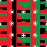 Modèle sans couture de conception de drapeau du Malawi Images libres de droits
