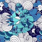 Modèle sans couture de coquillage de vecteur Conception de mer Photos stock