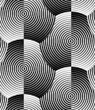 Modèle sans couture de coquilles de vecteur blanc rayé de noir Images stock