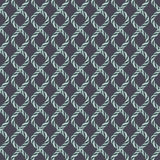 Modèle sans couture de corde en spirale décorative illustration stock