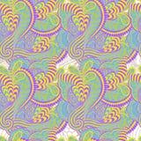 Modèle sans couture de couleur de ressort. Illustration de vecteur. Image stock