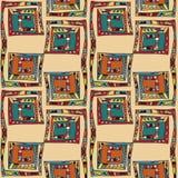 Modèle sans couture de couleur ethnique Image libre de droits