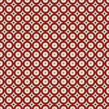 Modèle sans couture de couleurs rouges avec les cercles répétés Fond abstrait géométrique Texture moderne de style Images libres de droits
