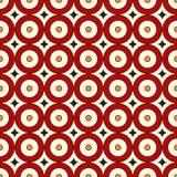 Modèle sans couture de couleurs rouges avec les cercles répétés Fond abstrait géométrique Texture moderne de style Photos stock
