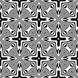 Modèle sans couture de courbes de vecteur noir et blanc Papier peint abstrait de fond Illustration de vecteur illustration libre de droits