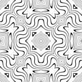 Modèle sans couture de courbes de vecteur noir et blanc Papier peint abstrait de fond Illustration de vecteur illustration stock