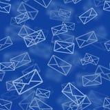Modèle sans couture de courrier bleu Images stock