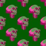 Modèle sans couture de crâne effrayant illustration libre de droits