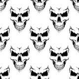 Modèle sans couture de crâne noir de danger illustration libre de droits
