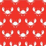 Modèle sans couture de crabe Illustration de vecteur Image stock