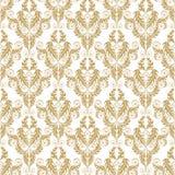 Modèle sans couture de damassé d'or illustration de vecteur