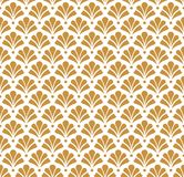 Modèle sans couture de damassé florale de vecteur Fond abstrait élégant d'Art nouveau Texture classique de motif de fleur Illustration de Vecteur