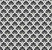 Modèle sans couture de damassé florale de vecteur Fond abstrait élégant d'Art nouveau Texture classique de motif de fleur illustration stock