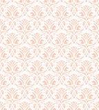Modèle sans couture de dentelle blanche sur le fond rose illustration stock