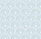 Modèle sans couture de dentelle bleue Illustration de vecteur Fond avec les vagues florales illustration libre de droits