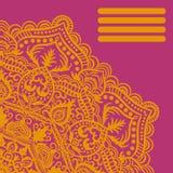 Modèle sans couture de dentelle ornemental rose, mandalas, fond de dentelle illustration libre de droits