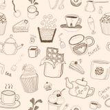 Modèle sans couture de desserts Image stock