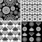 Modèle sans couture de diamant Image libre de droits