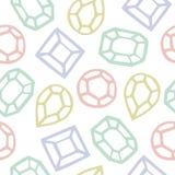 Modèle sans couture de Diamond Shape Cartoon Illustration de Vecteur