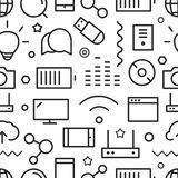 Modèle sans couture de différentes icônes de Web Image libre de droits