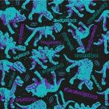Modèle sans couture de Dinosaurus pour la conception urbaine de garçons illustration libre de droits