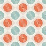 Modèle sans couture de disques sans couture de patternVinyl de disques vinyle Fond sans fin de musique Type créateur Rétros coule illustration libre de droits